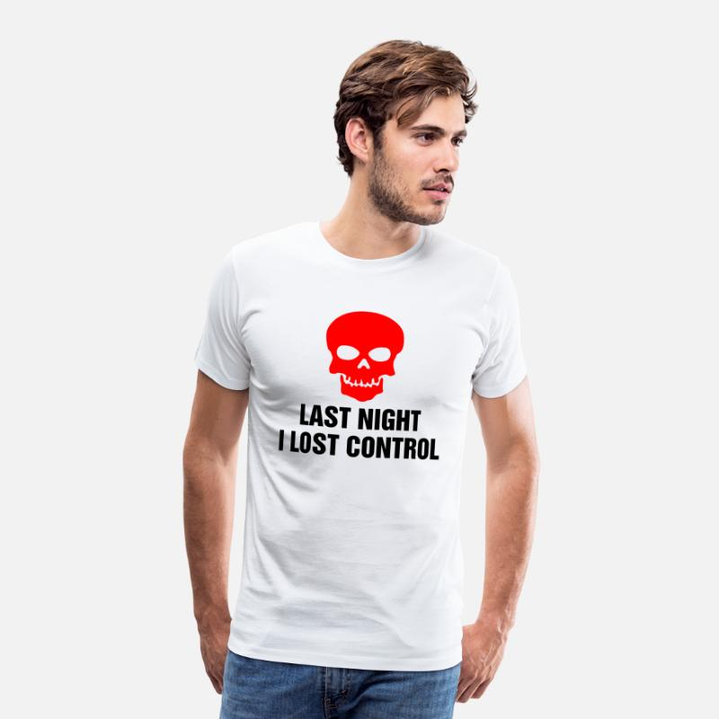 Nocturnal T-Shirts - Loss of control funny sayings - Men's Premium T-Shirt white