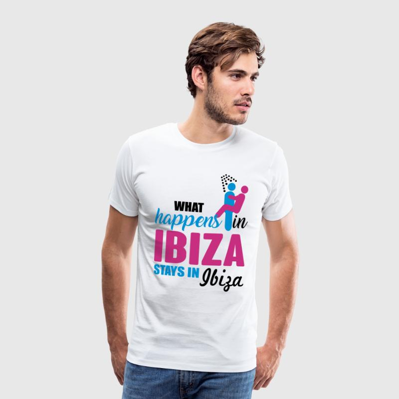 Ibiza what happens there - Mannen Premium T-shirt