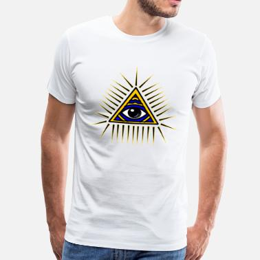 Pyramid Illuminati Illuminati gift idea - Men's Premium T-Shirt