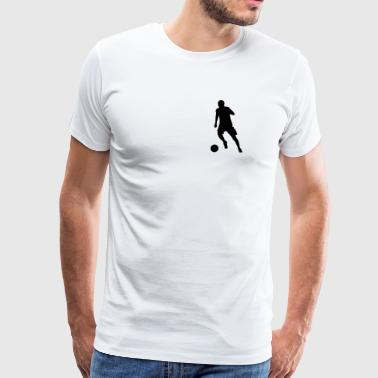 Striker at the dribble - Men's Premium T-Shirt
