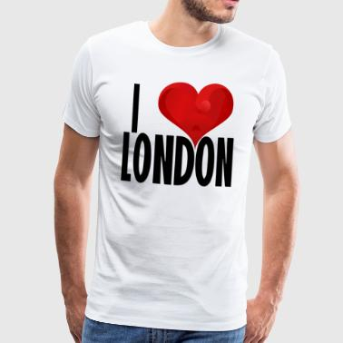 I LOVE LONDON black - Men's Premium T-Shirt