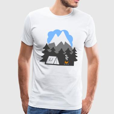 NATURTENTER MOUNTAINS HEAVEN - Premium T-skjorte for menn