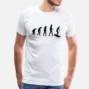 Surf Evolution Surf - Mannen Premium T-shirt