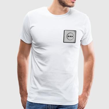 Power socket - electricity, power - Men's Premium T-Shirt