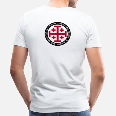 Knights Templar Jerusalem Crusader Cross - Men's Premium T-Shirt