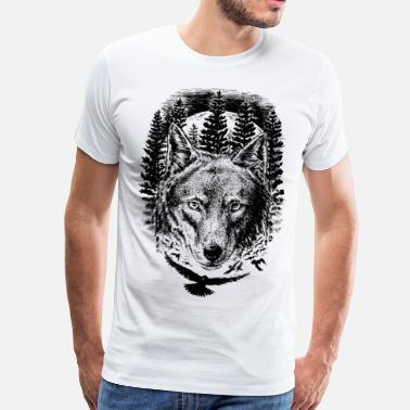 Nature AD Wolf - Men's Premium T-Shirt