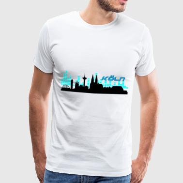 Koeln Silhouette Soundwave - blue - Men's Premium T-Shirt