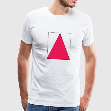 Pink triangle in the square - Men's Premium T-Shirt