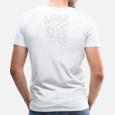 Sleek Sleek simple swirls - Men's Premium T-Shirt