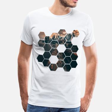Hexagon Hexagon - Premium-T-shirt herr