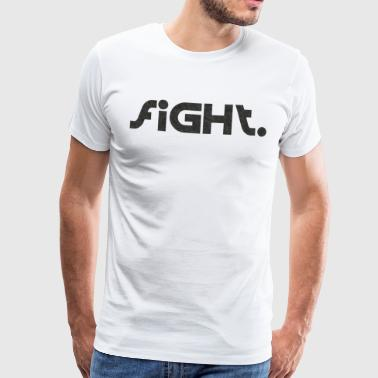 Fight Boxing Sport Logo - Premium T-skjorte for menn