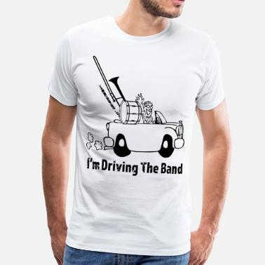 Big Band Driving the band - Miesten premium t-paita