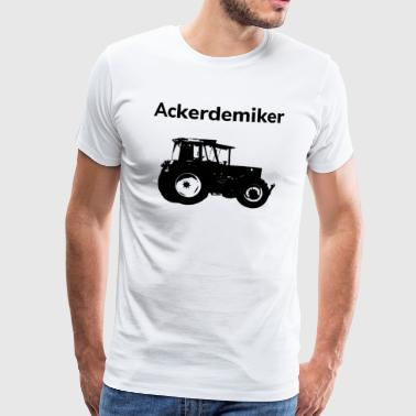 Field Demand Tractor Academics Agriculture - Men's Premium T-Shirt