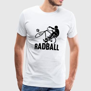Radball-shirt zwart indoor cycling - Mannen Premium T-shirt