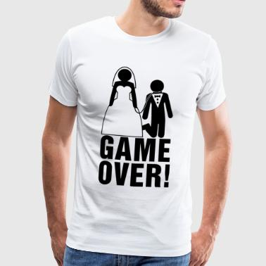 Bachelor Party Game Over Bachelor party | Bridegroom | Game Over! - Men's Premium T-Shirt