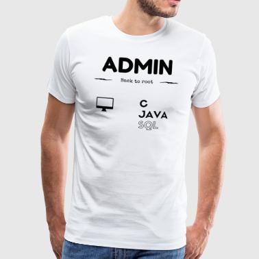 Admin SQL JAVA C - Men's Premium T-Shirt