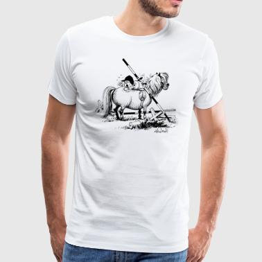 Thelwell 'Hard-bitten Pony' - Men's Premium T-Shirt