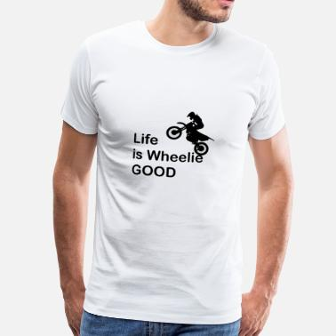 Wheelie Motorcycle Wheelie motorcycle - Men's Premium T-Shirt