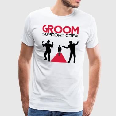 Groom support Crew - Männer Premium T-Shirt