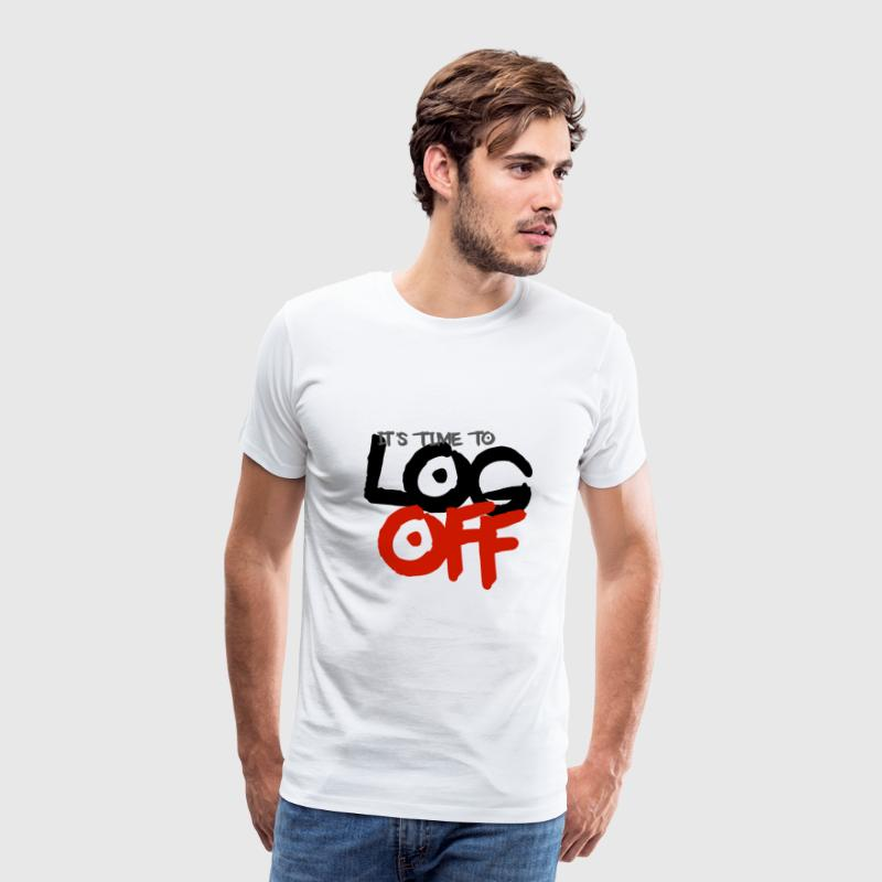 It's time to log off - Men's Premium T-Shirt