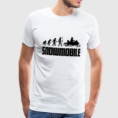 Bike Evolution Evolution snowmobile snowmobile snow winter - Men's Premium T-Shirt