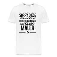 Männer Premium T Shirt   Maler, Malerei, Anstreicher, Mann, Ehemann,