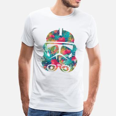 Vintage The Flower Trooper - Mannen Premium T-shirt