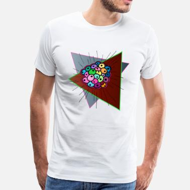 Colourful Psychedelic Psychedelic Fisheggs - Men's Premium T-Shirt