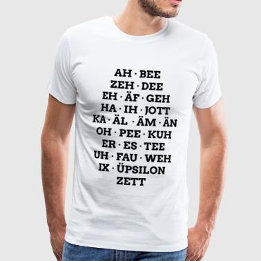 Alphabet allemand en orthographe phonétique - T-shirt Premium Homme