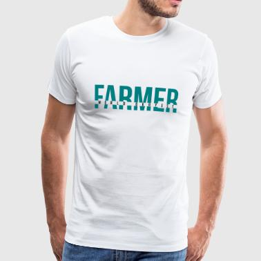 World Okayest Farmer - Premium-T-shirt herr