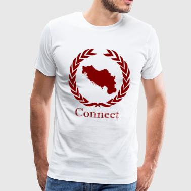 CONNECT COLLECTION LMTD. RED EDITION - Herre premium T-shirt