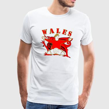 wales football celebration design - Men's Premium T-Shirt