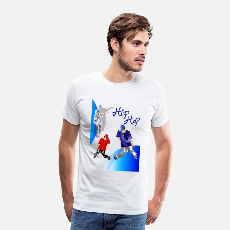 Hiphop T-Shirts - hiphop tekening - Mannen premium T-shirt wit