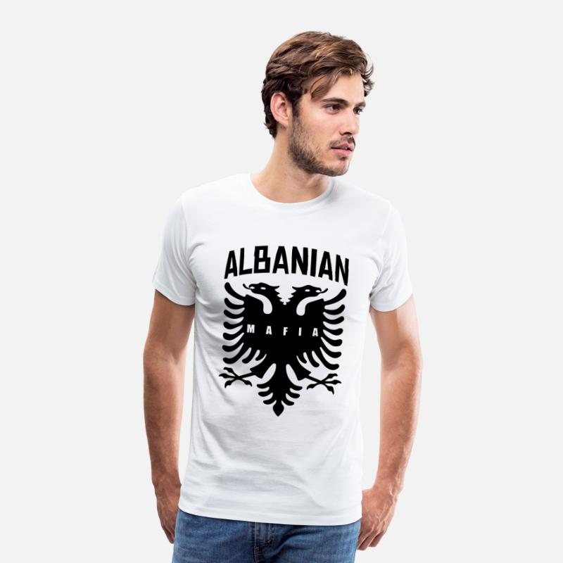 Albanian T-Shirts - albanian mafia fun - Men's Premium T-Shirt white