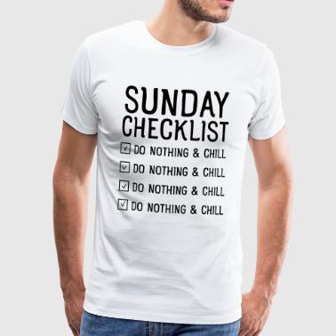 Sunday checklist - Premium T-skjorte for menn