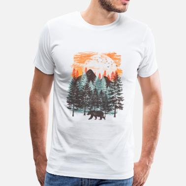 Nature Collection Forest landscape (Bear) - Men's Premium T-Shirt
