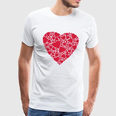 Heart of hearts Love in love Gift - Men's Premium T-Shirt
