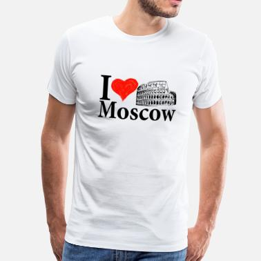 I love Moscow (and Rome) - Mannen Premium T-shirt