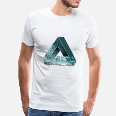 Penrose Optical illusion with nature, cool - Men's Premium T-Shirt