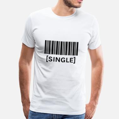 One Night Stand barcode SINGLE - Mannen Premium T-shirt