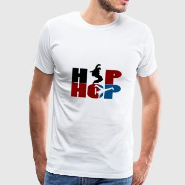 hip hop - Premium T-skjorte for menn