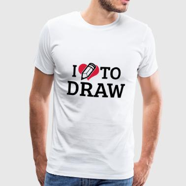 I Love to Draw - Männer Premium T-Shirt