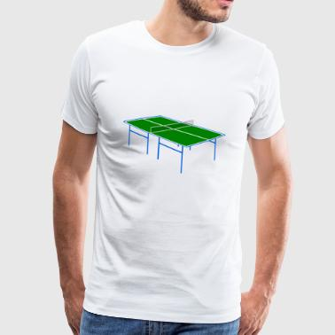 bordtennis Pingis tennis bat14 - Premium-T-shirt herr