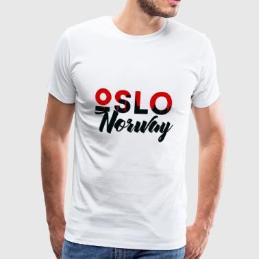 Oslo, Norway, capital, fylke, gift - Men's Premium T-Shirt