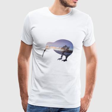 Kiwi Nya Zeeland Backpacker Work & Travel - Premium-T-shirt herr