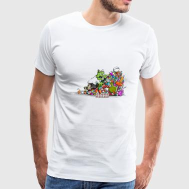 Zombie tablet - Men's Premium T-Shirt