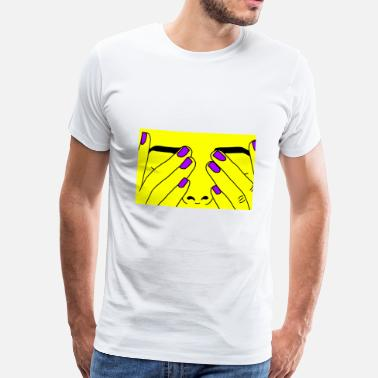 Yellow Face Face yellow - Men's Premium T-Shirt