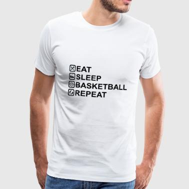 EAT SLEEP BASKETBALL REPEAT - Miesten premium t-paita