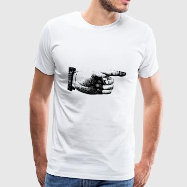 pointer du doigt - T-shirt Premium Homme