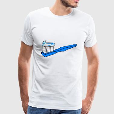 toothbrush toothpaste hygiene dentistry care - Men's Premium T-Shirt